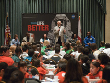 NASA legends talk to fifth- through 12th-graders at an education forum