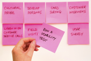"""""""affinity diagraming using sticky notes"""""""