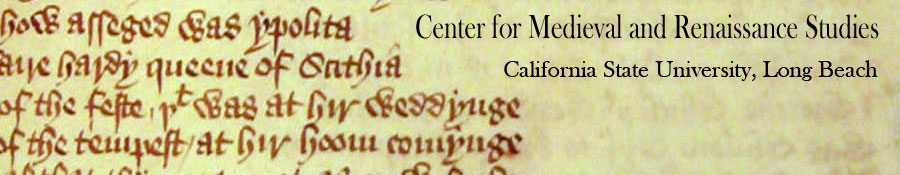 Center For Medieval and Renaissance Studies Banner