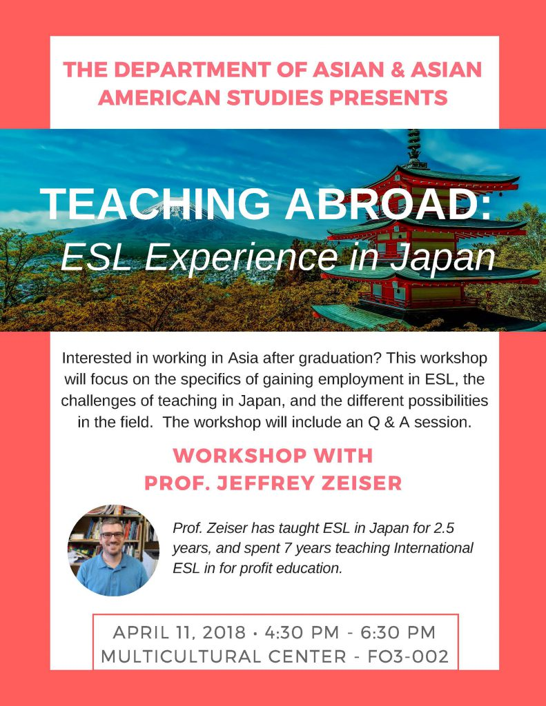 Teaching Abroad S2018 Flyer Updated