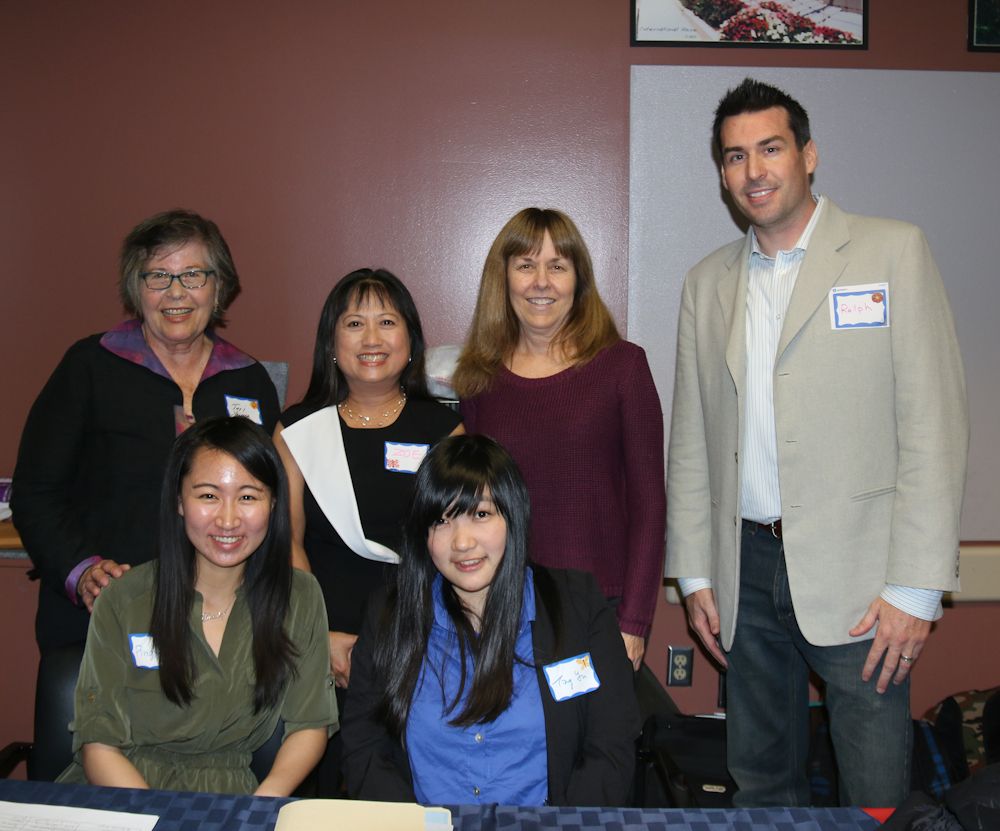 Asian Studies MA Students with Professors Yamada and Whittaker
