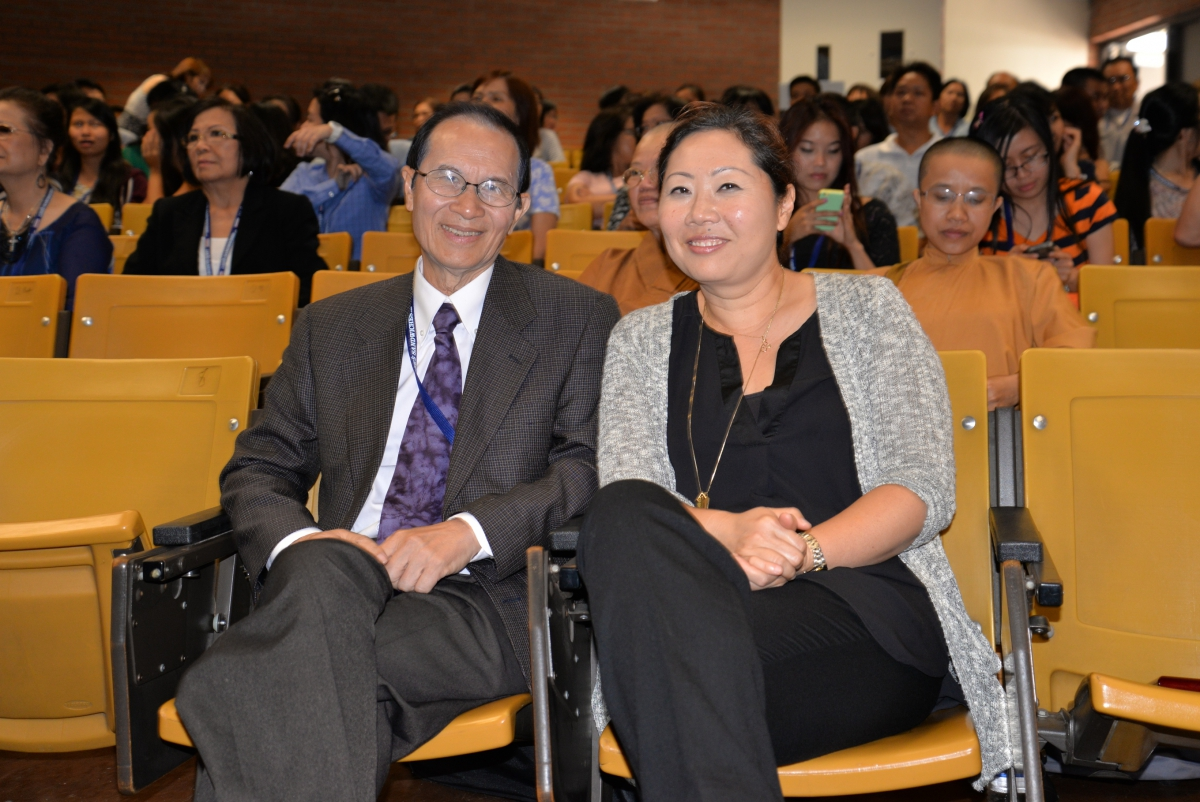 Professor Bui (Vietnamese Language) and Professor Kim (ASAM)