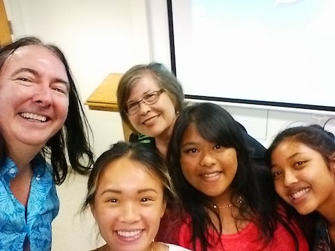 Khmer language Instructor Frank Smith and students