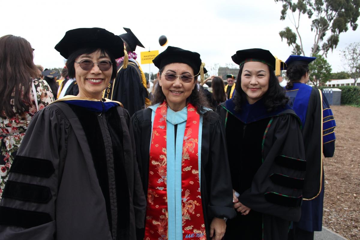 JAPN Faculty Masako Douglas, Hiroko Kataoka, and Kiyomi Chinen