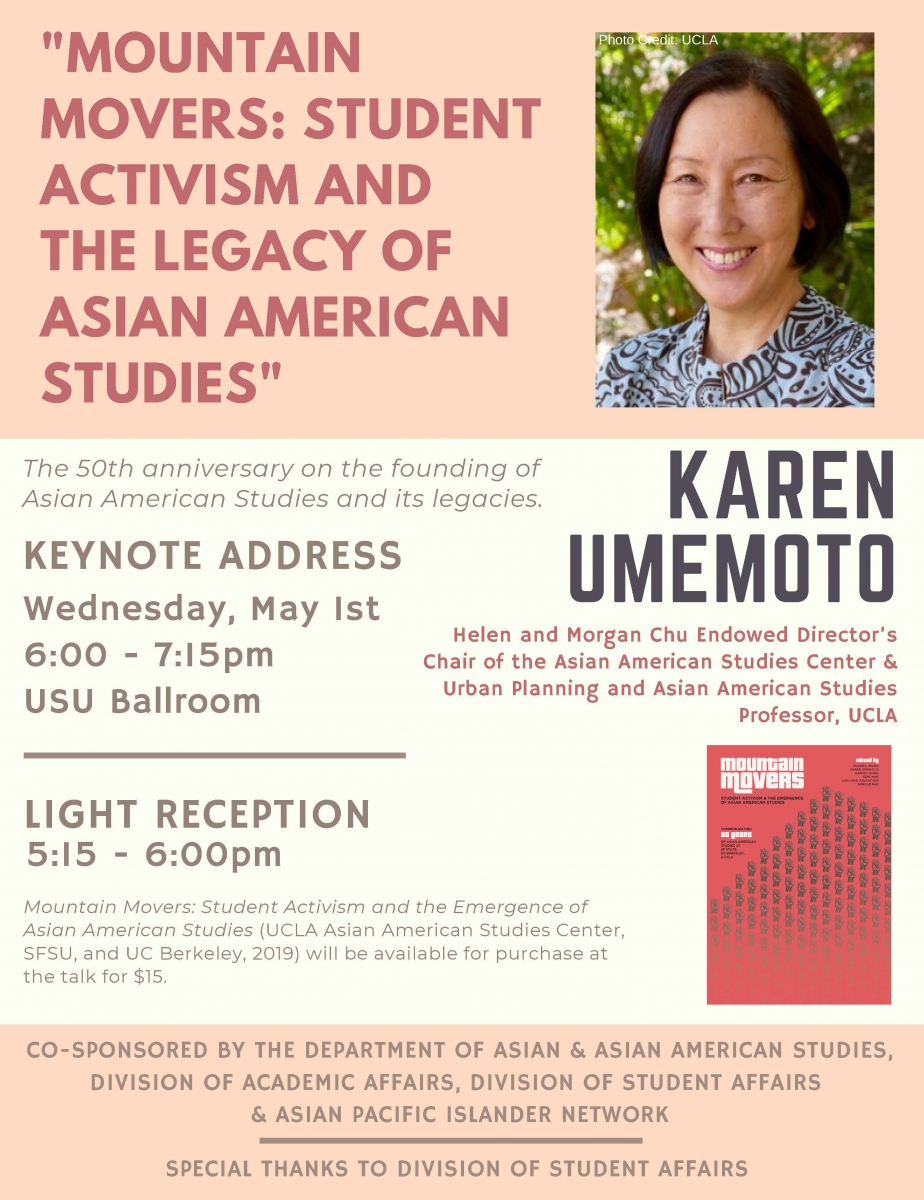 Karen Umemoto Keynote Address Taking Place May 1, 2019