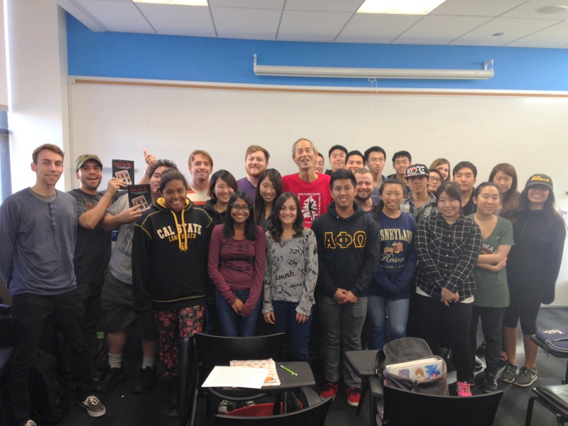 Speaker John Jung with students in ASAM 120