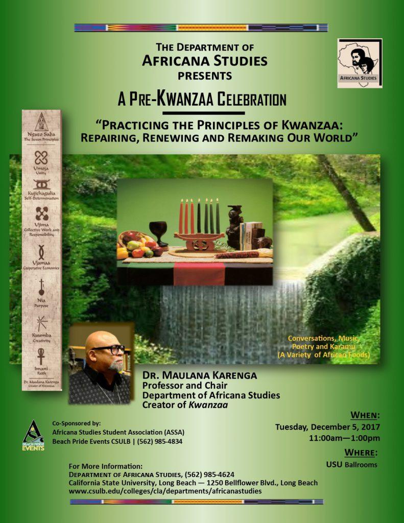 Pre-Kwanzaa 2017 Announcement