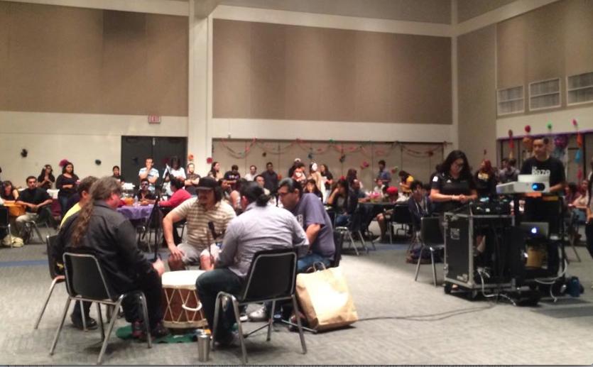 CSULB Community Drum at the Dia De Los Muertos Celebration.