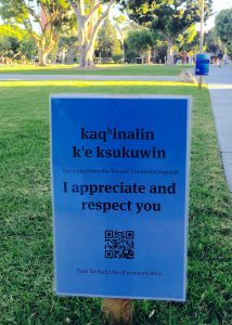 photo of sign saying, I appreciate and respect you