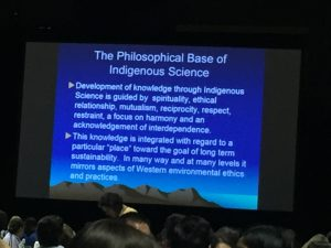 Slide from Dr. Cajete's lecture on Indigenous Science.