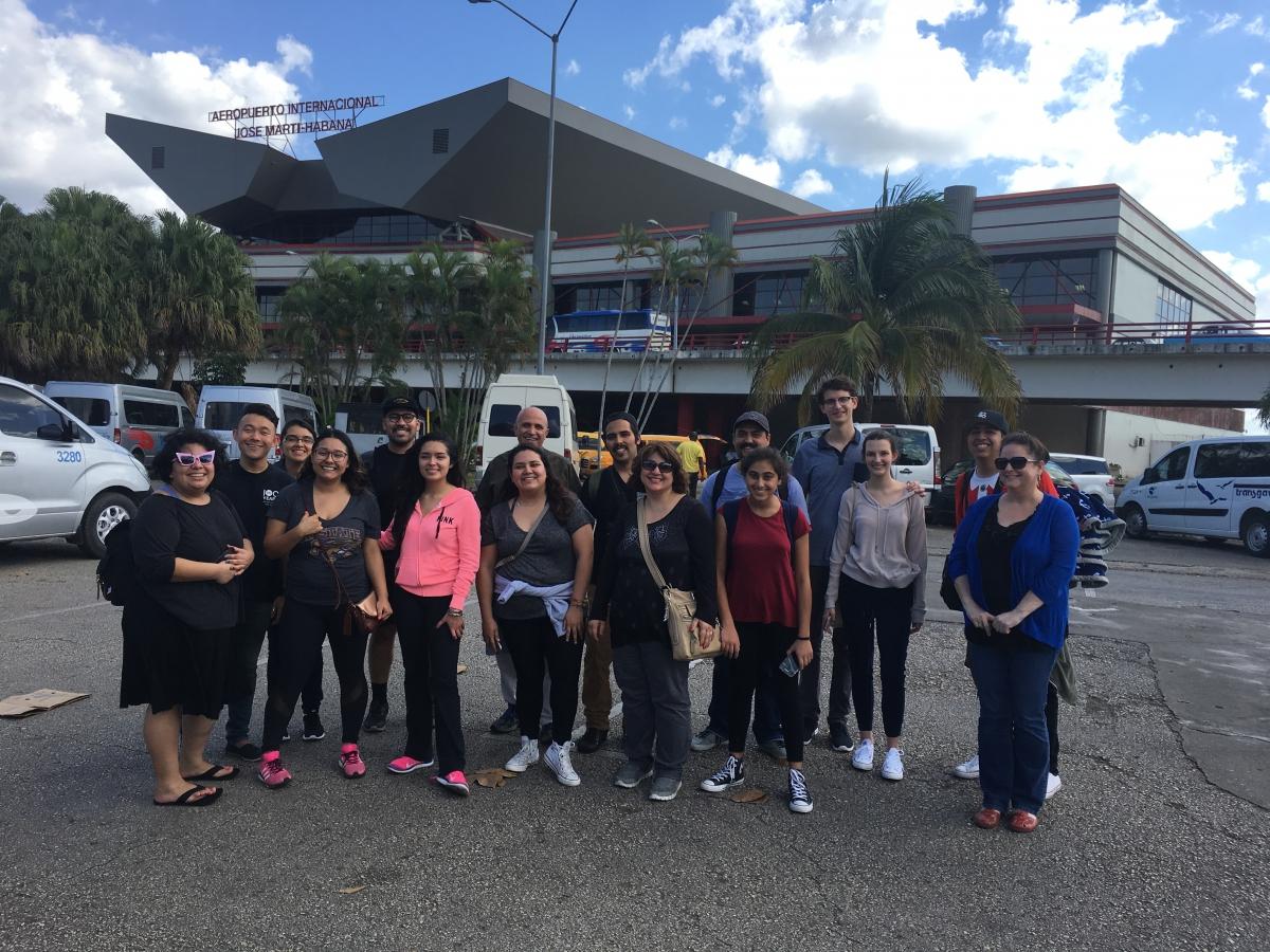 Arrival at José Martí Airport, Habana