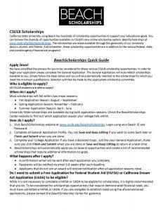 beach Scholarship info