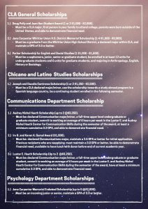 College of Liberal Arts scholarship 2017 opportunities