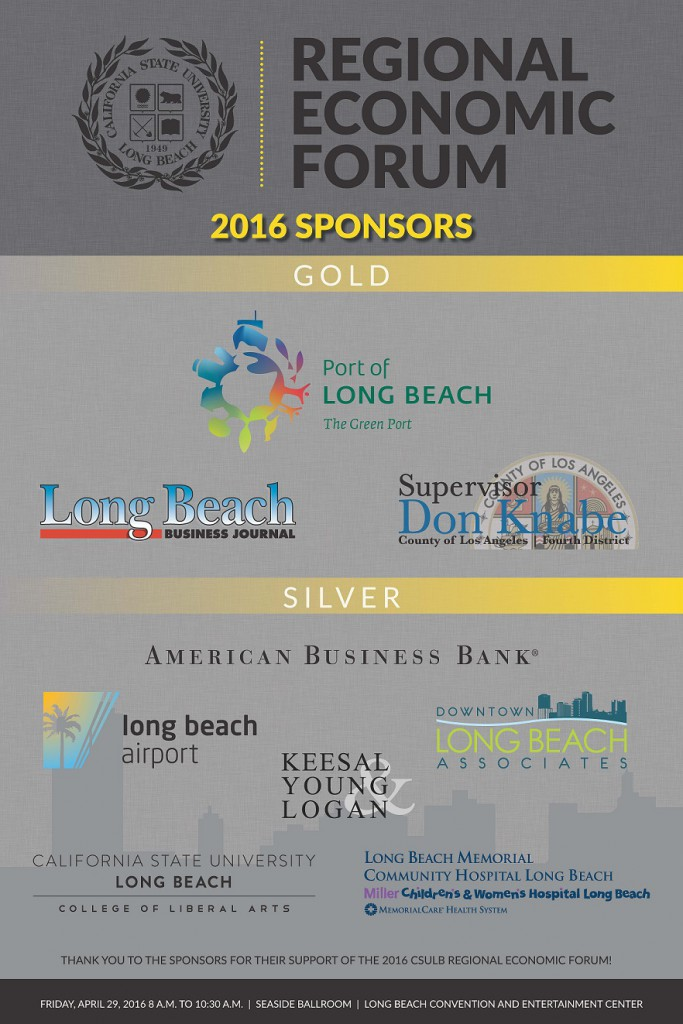 CSULB 2016 Economic Forum Sponsor Poster