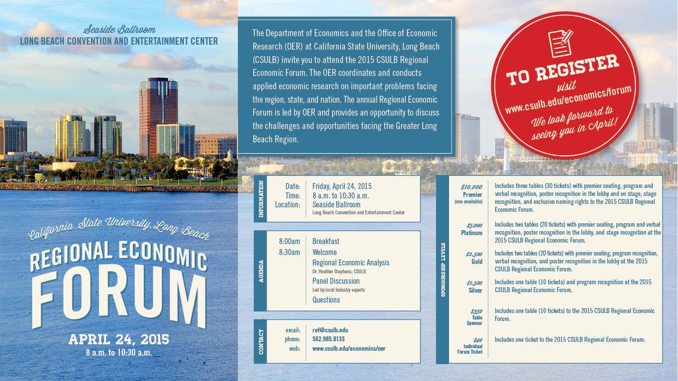 CSULB 2015 Economic Forum Invitation