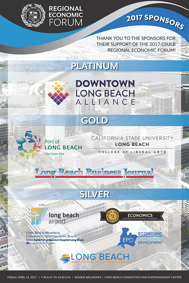 CSULB 2017 Economic Forum Sponsor Poster