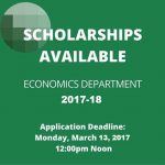 2017-18 Economics Scholarships Available