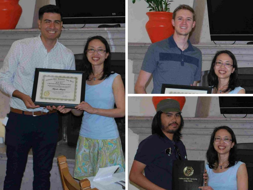 Photos of Graudates and Grad Advisor