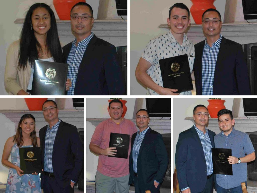 Photos of Scholarship Awardees and Chair