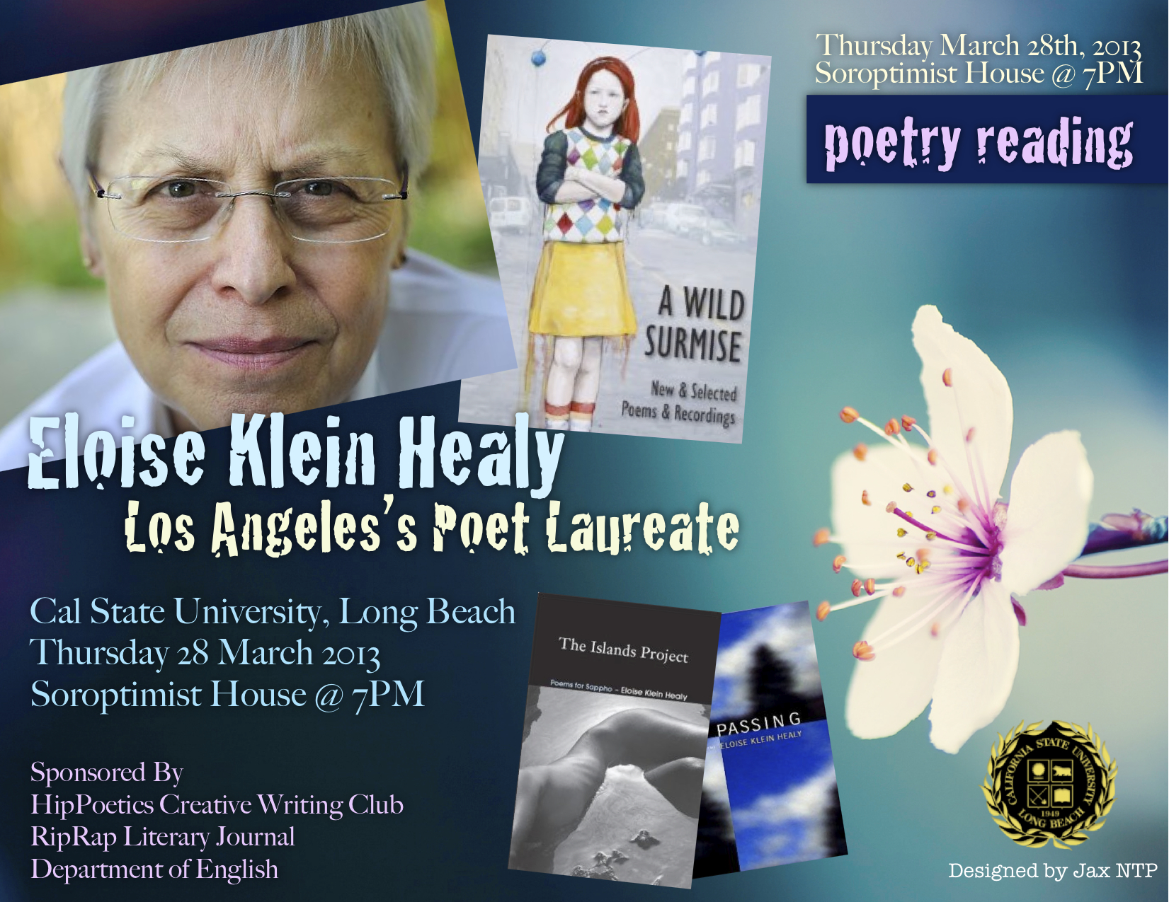 Eloise Klein Healy Poetry Reading