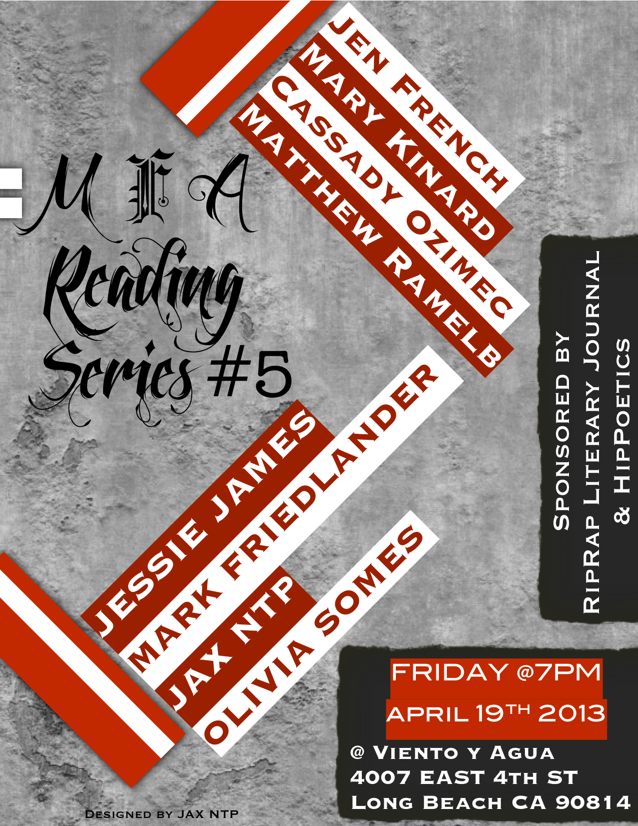 MFA Reading Series 5 (French, Kinard, Ozimec, and Ramelb)