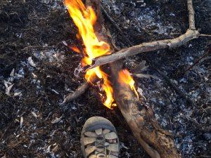 Fire Near a Foot