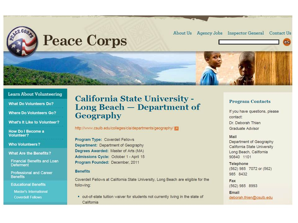 Peace Corps Fellows