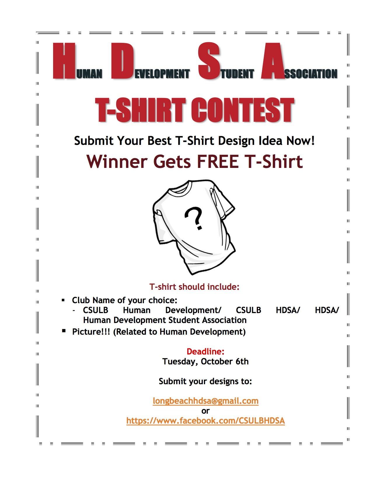 Shirt design contest - Tshirt Flyer