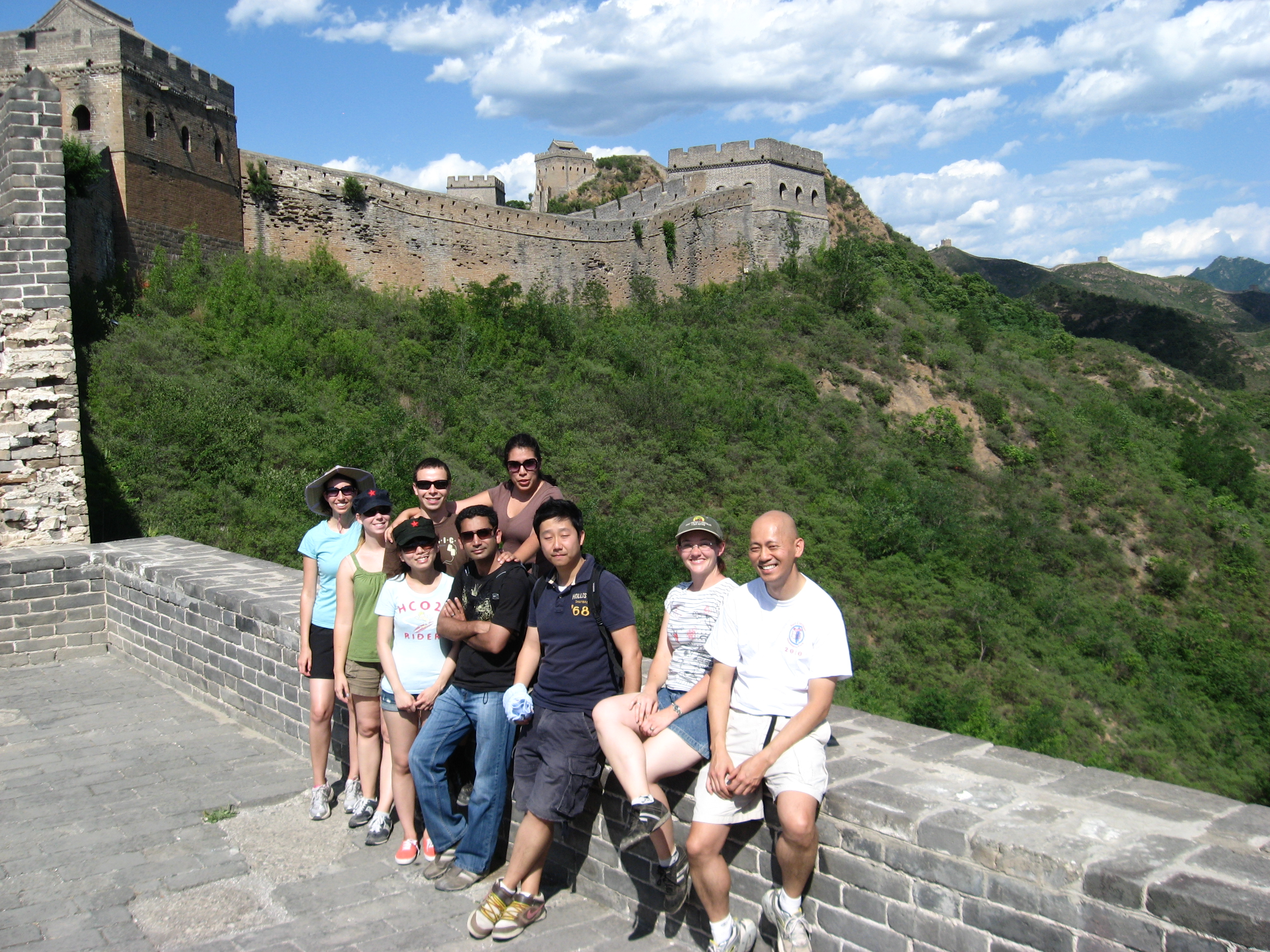 Students on Great Wall