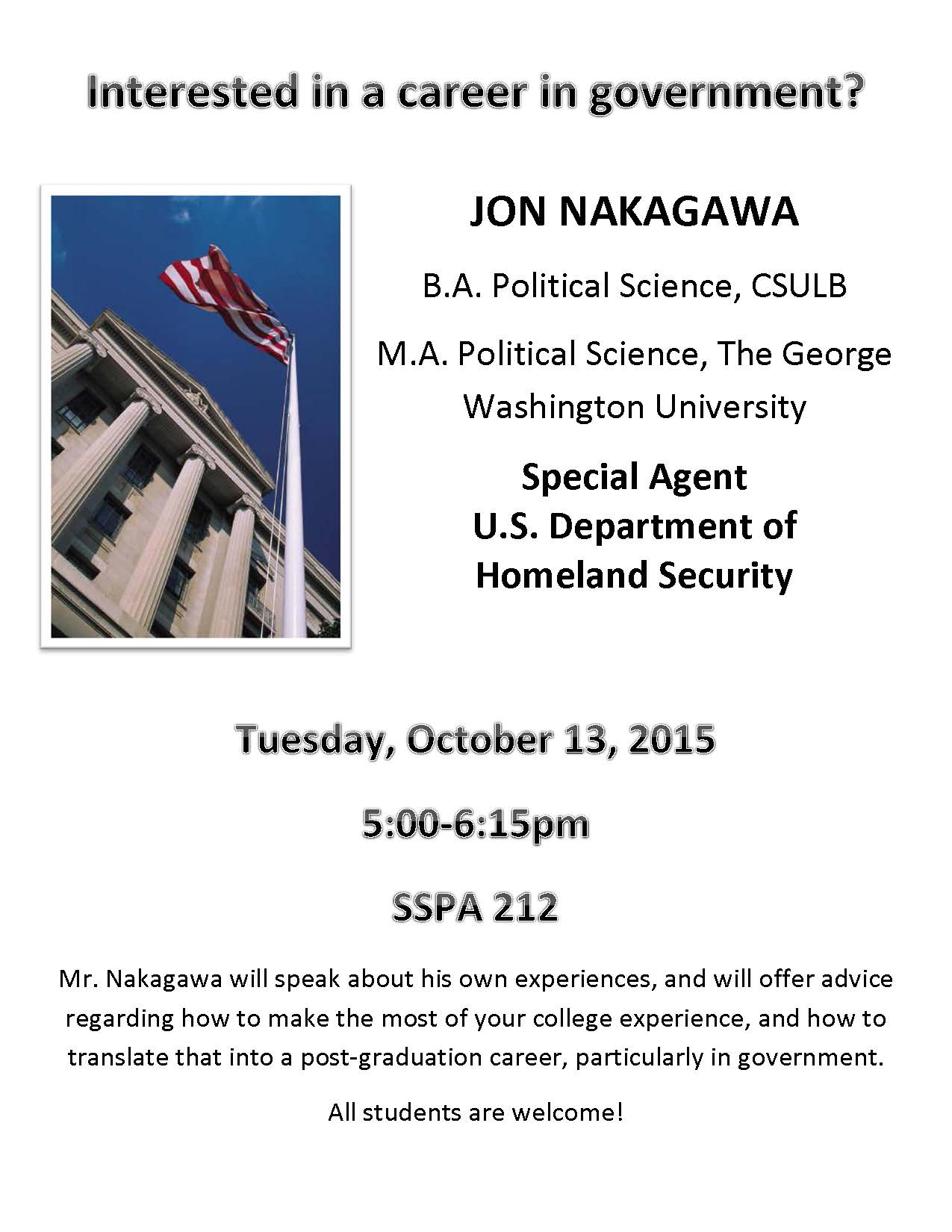 Alumni Nakagawa Event Nakagawa Flyer (10.13.2015)