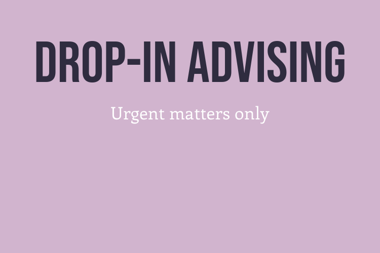 Drop-in Advising Thumbnail