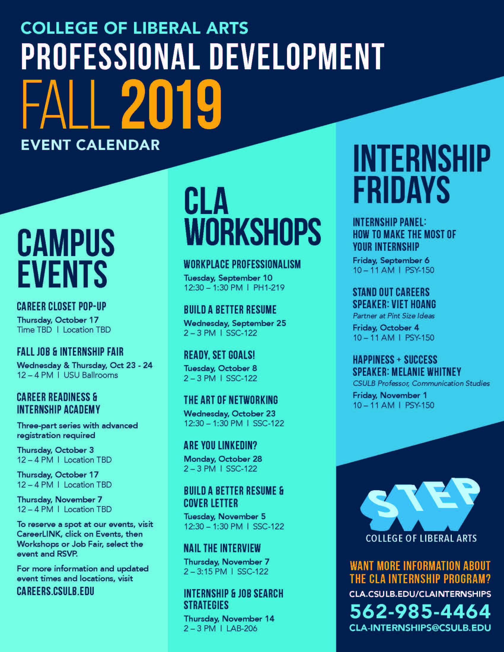 CLA Professional Development Workshops