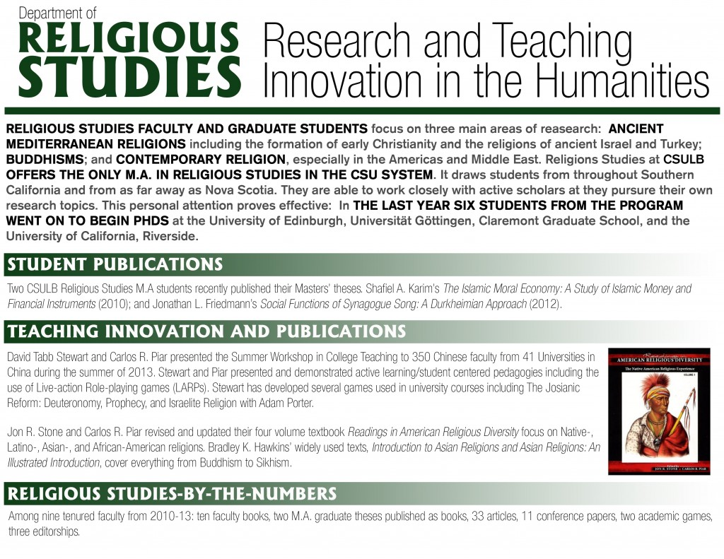 Religious Studies Research and Teaching Innovation in the Humanities GREEN
