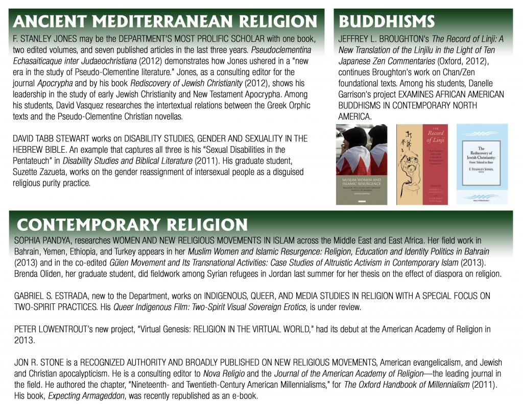 Religious Studies Research and Teaching Innovation in the Humanities page 2 GREEN