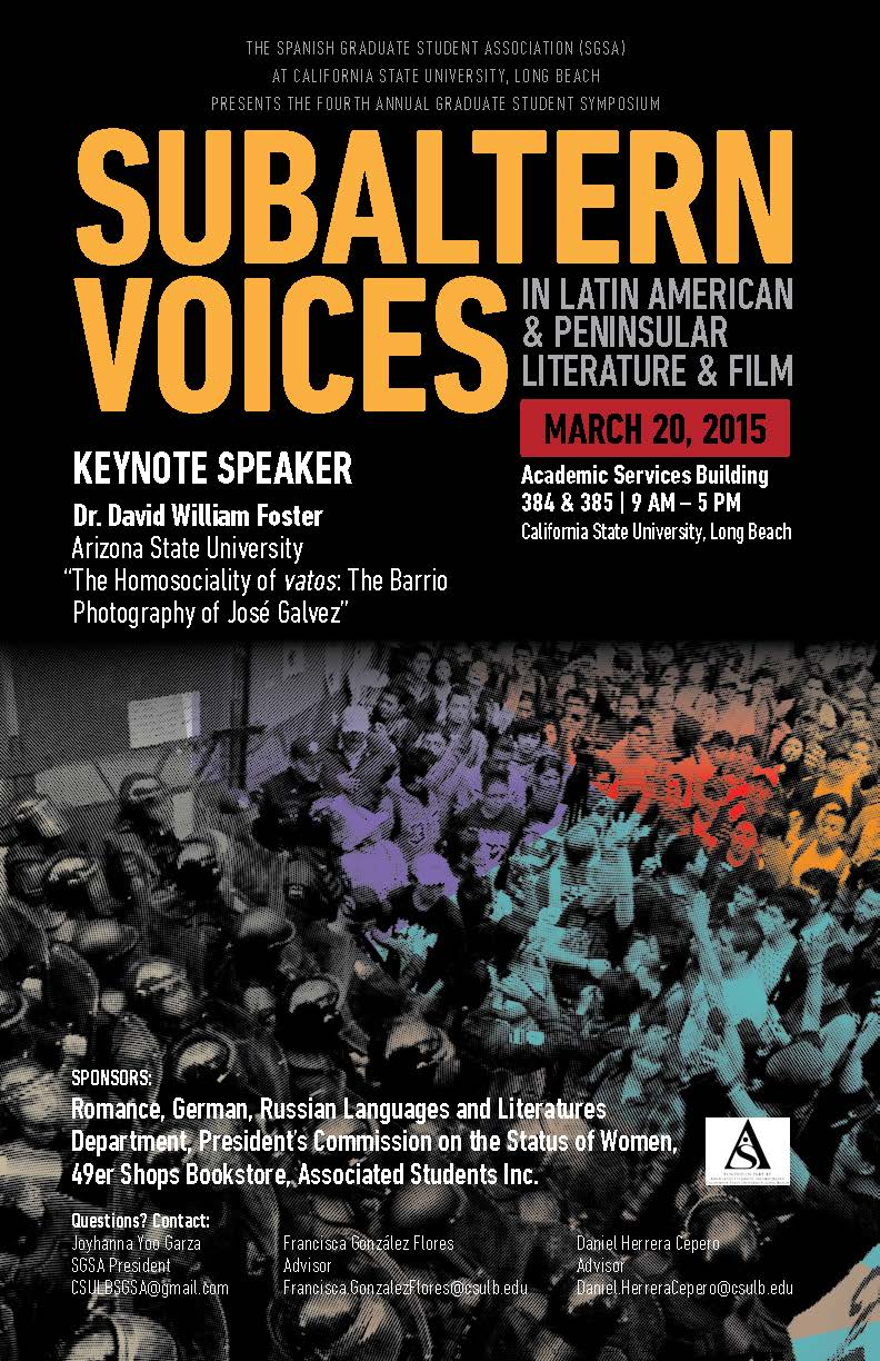 SGSA Subaltern Voices Conference
