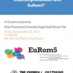 Multilingual Teaching through Intercomprehension: A Guest Lecture by Elisa Fiorenza