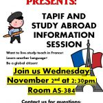 French Club Presents: TAPIF and Study Abroad Information Session
