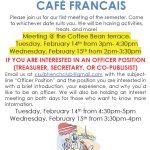French Club Café Français