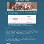 Summer 2017 Study Abroad in Recanti, Italy (Information Sessions)