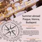 Summer 2017 Study Abroad in Prague, Vienna & Budapest!
