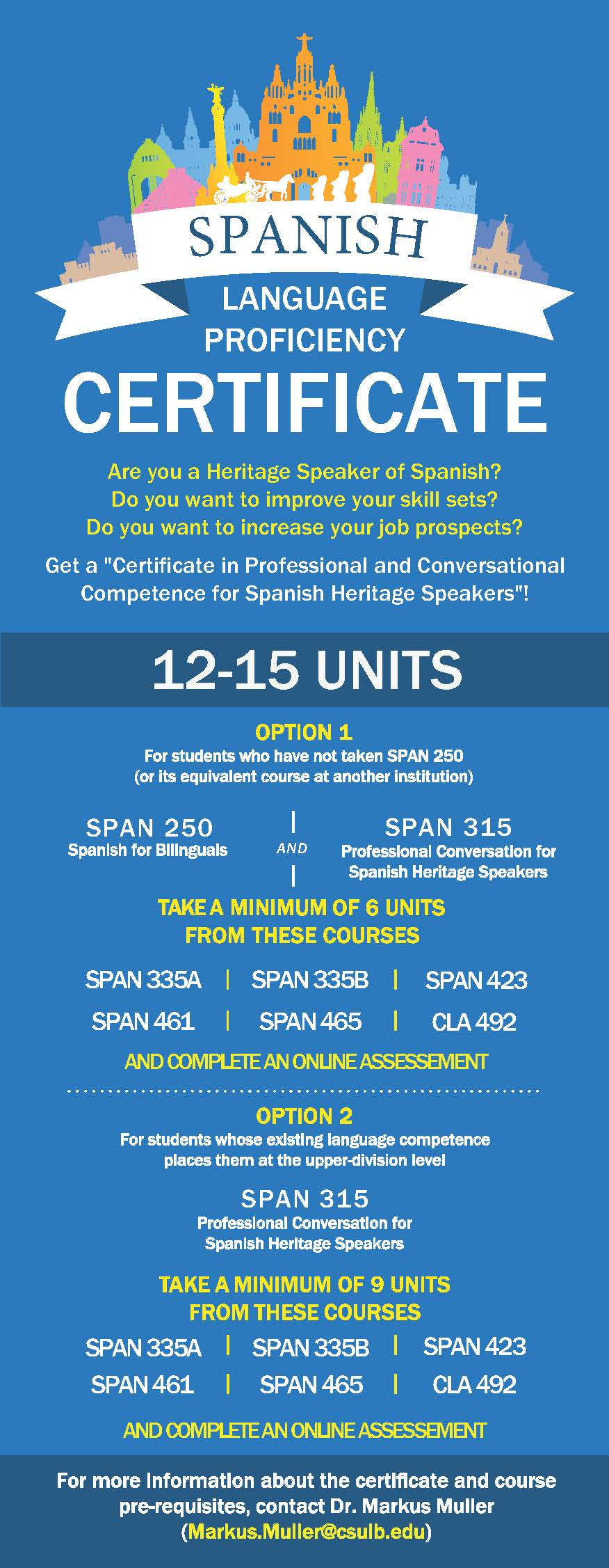 B A , Minor and Certificate Programs in Spanish – Romance