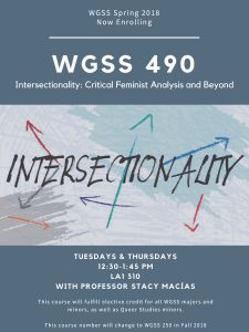 WGSS 490 Spring 2018