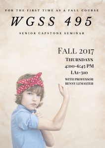 WGSS 495 Fall 2017