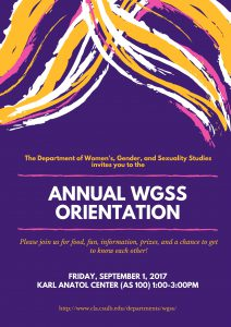 WGSS Student Orientation