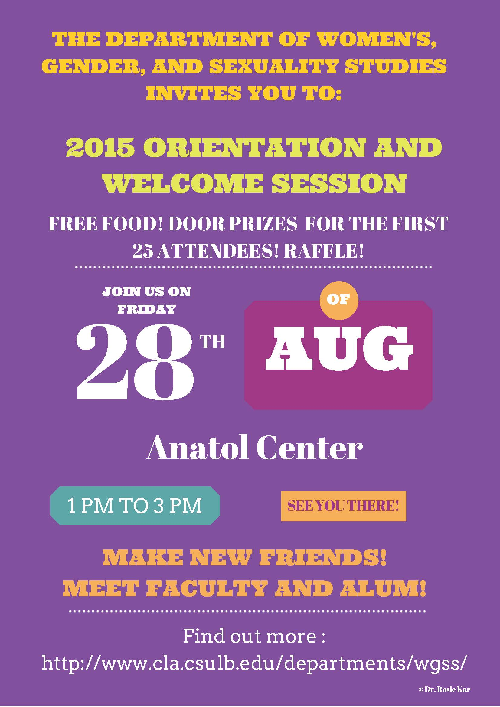 WGSS Fall 2015 orientation flyer