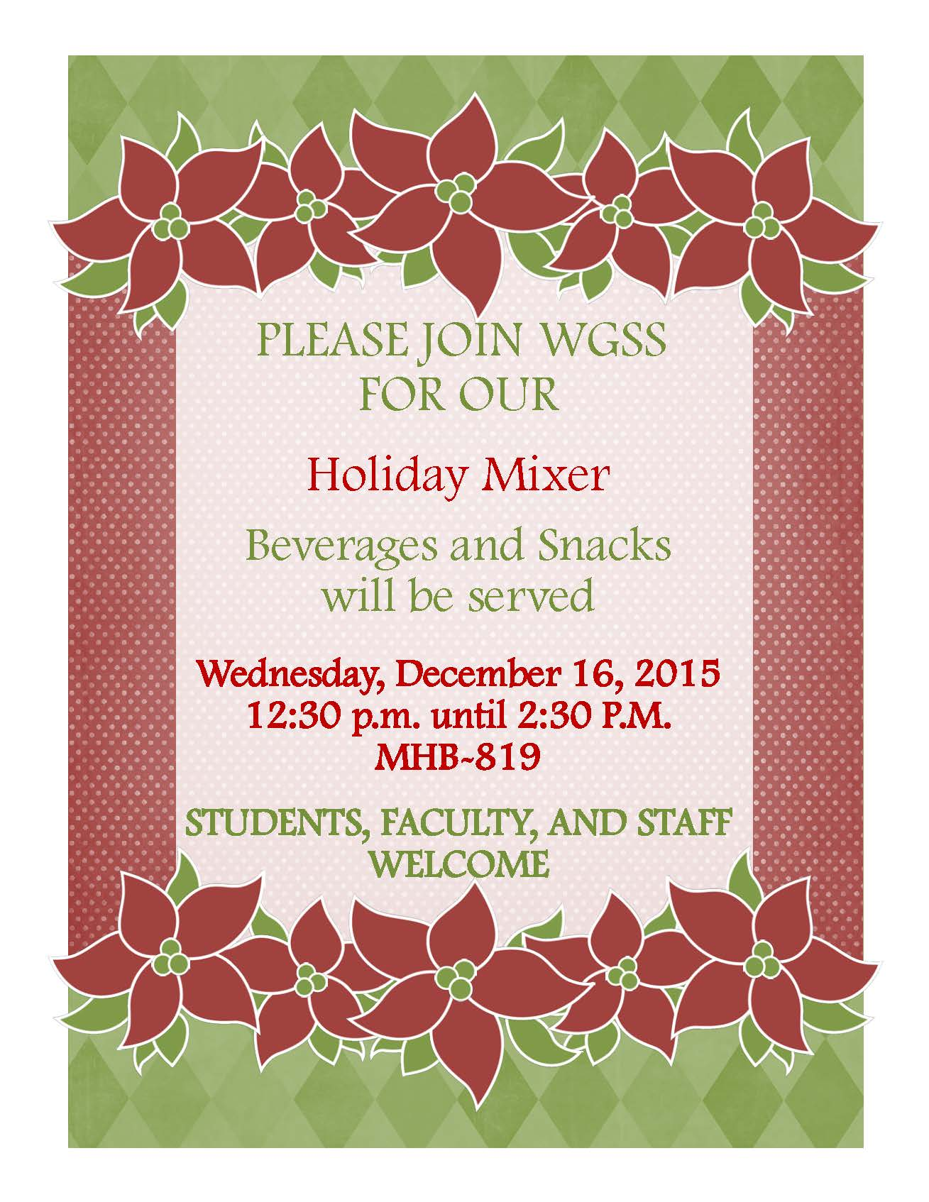 Holiday Party Flyer 2015