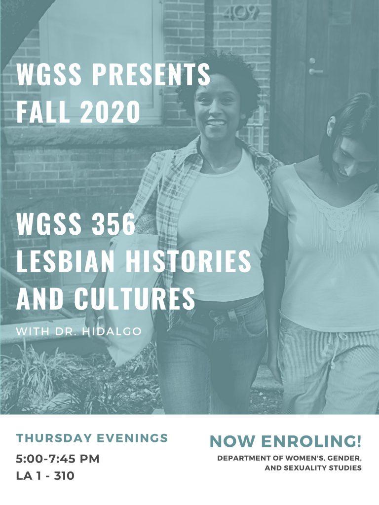 WGSS 356 Fall 2020