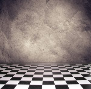 Checkered Floor with Slate Background