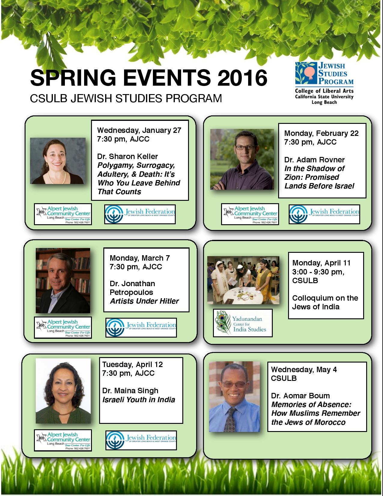 Spring 2016 Speakers